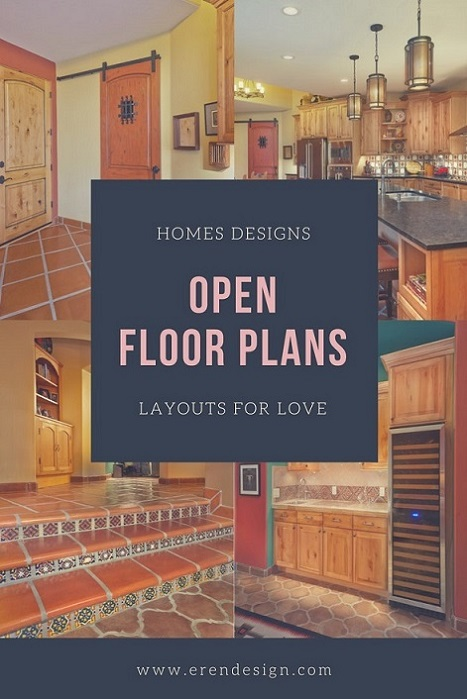 Homes Designs Open Floor Plans Layouts
